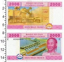 Изображение Боны Центральная Африка 2000 франков 2002  UNC