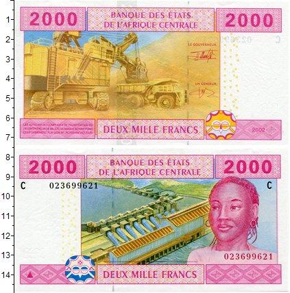 Картинка Боны Центральная Африка 2.000 франков  2002