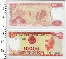 Изображение Банкноты Вьетнам 10000 донг 1993  UNC Портрет Хо Ши Мина.