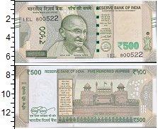 Изображение Банкноты Индия 500 рупий 2016  UNC Портрет М. К. Ганди.