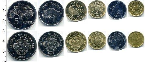 Изображение Наборы монет Сейшелы Сейшелы 2004-2007 0  AUNC В наборе 6 монет ном