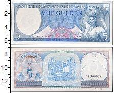Изображение Банкноты Суринам 5 гульденов 1963  UNC