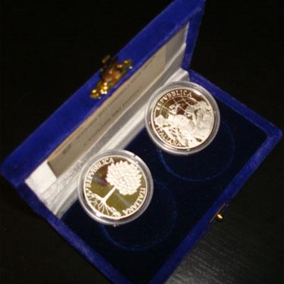 Изображение Подарочные наборы Италия Набор монет 2003 года 2003 Серебро Proof Подарочный набор пос