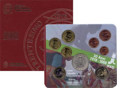 Изображение Подарочные монеты Италия Евронабор 2008 2008  UNC Подарочный набор пос