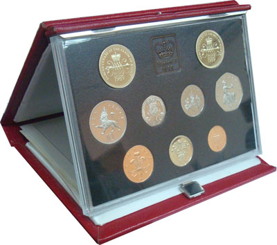 Изображение Подарочные монеты Великобритания Набор монет 1989 года 1989  Proof R Подарочный набор