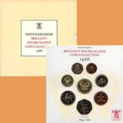 Изображение Подарочные наборы Великобритания Набор монет 1986 года 1986   Подарочный набор Вел
