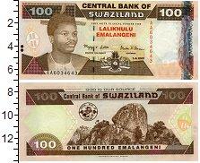 Изображение Боны Свазиленд 100 эмалангени 1996  UNC