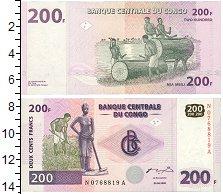 Изображение Банкноты Конго 200 франков 2007  UNC