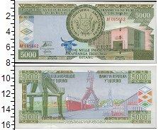 Изображение Банкноты Бурунди 5.000 франков 0  UNC Государственный герб