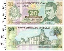 Изображение Банкноты Гондурас 20 лемпир 2006  UNC Портрет Д.де Эрреды.