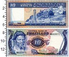 Изображение Банкноты Свазиленд 10 эмалингени 1982  UNC