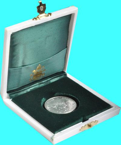 Изображение Подарочные монеты Ватикан 500 лир 1998 Серебро UNC Подарочный набор пос