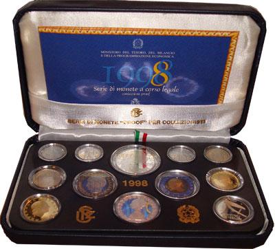 Изображение Подарочные монеты Италия Эудженио Монтале 1998  Proof