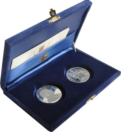 Изображение Подарочные наборы Ватикан Понтифик Иоанн Павел II 2000 Серебро Proof Подарочный набор пос