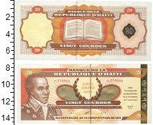 Изображение Банкноты Гаити 20 гурдес 2001  UNC-