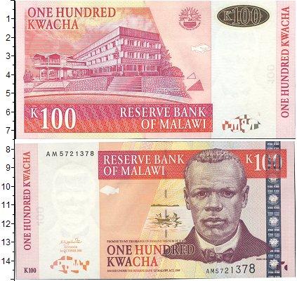 Картинка Банкноты Малави 100 квач  2001