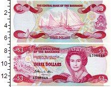 Изображение Банкноты Багамские острова 3 доллара 0  UNC Портрет королевы Ели