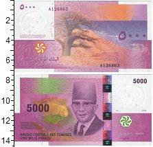 Изображение Банкноты Коморские острова 5000 франков 2006  UNC