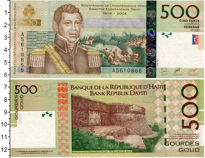 Картинка Боны Гаити 500 гурдес  2004