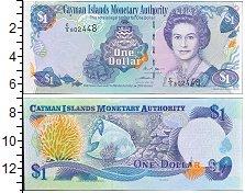 Изображение Боны Каймановы острова 1 доллар 2006  UNC Портрет королевы Ели