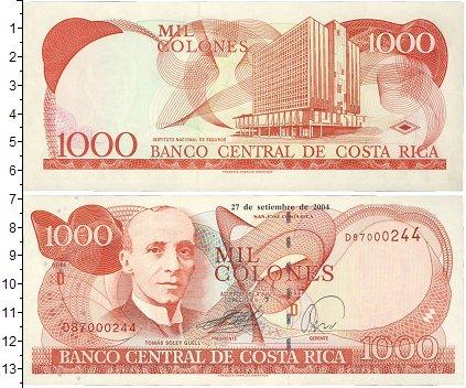 Картинка Боны Коста-Рика 1.000 колон  2004