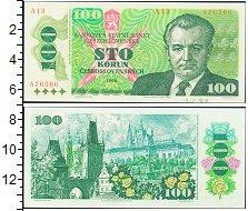 Изображение Боны Чехословакия 100 крон 1989  UNC