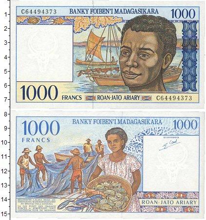 Картинка Банкноты Мадагаскар 1.000 франков  1994