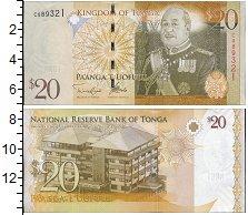 Изображение Банкноты Тонга 20 паанга 2008  UNC Портрет короля Георг