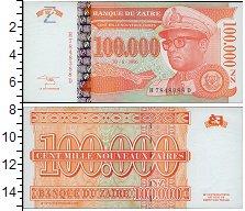 Изображение Банкноты Заир 100000 заир 1996  UNC Национальный символ.