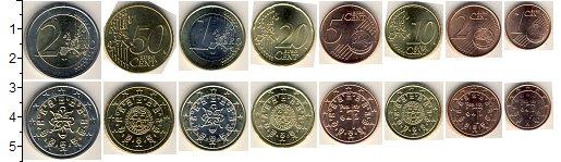 Изображение Наборы монет Португалия Португалия 2002-2006 0  XF+ В наборе 8 монет ном