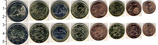 Изображение Наборы монет Финляндия Финляндия 1999-2010 0  XF+ В наборе 8 монет ном