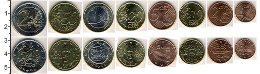 Изображение Наборы монет Греция Греция 2002 2002  UNC В наборе 8 монет ном