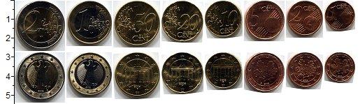 Изображение Наборы монет Германия Германия 2002-2013 0  UNC В наборе 8 монет ном
