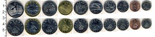 Изображение Наборы монет Зимбабве Зимбабве 1997-2003 0  XF В наборе 10 монет но