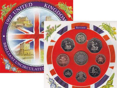 Изображение Подарочные монеты Великобритания Регулярный выпуск 1997 года 1997  UNC