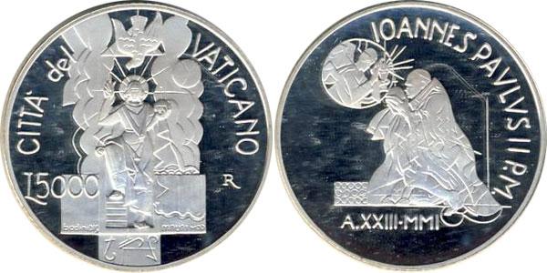 Картинка Подарочные наборы Ватикан Павел II Серебро 2001