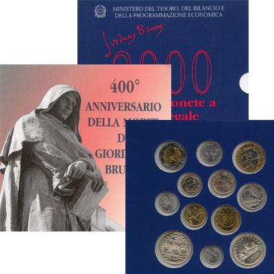 Изображение Подарочные наборы Италия Джордано Бруно 2000  UNC