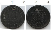 Изображение Монеты Нотгельды 10 пфеннигов 1917 Цинк UNC-