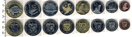 Изображение Наборы монет Галапагосские острова Галапагосские острова 2008 2008  UNC- В наборе 8 монет ном