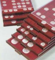 Изображение Аксессуары для монет Круглые ячейки Leuchtturm (Германия) Планшет MB CAPS 24 для монет, на 42 ячейки (337277) 0   •Служит для хранени