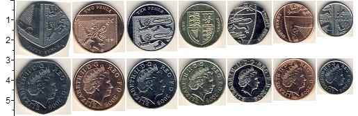 Изображение Наборы монет Великобритания Великобритания 2008 2008  AUNC В наборе 7 монет ном