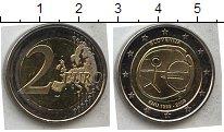 Изображение Мелочь Словения 2 евро 2009 Биметалл UNC- 10 лет единой европе