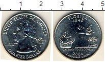 Изображение Мелочь США 1/4 доллара 2004 Медно-никель AUNC P.Флорида 1845