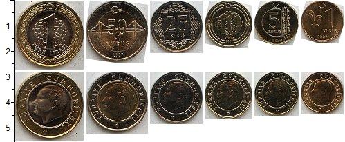 Изображение Наборы монет Турция Турция 2012-2014 2012  UNC В наборе 6 монет ном