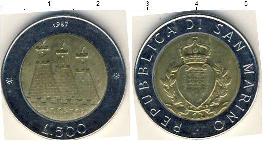 Картинка Мелочь Сан-Марино 500 лир Биметалл 1987