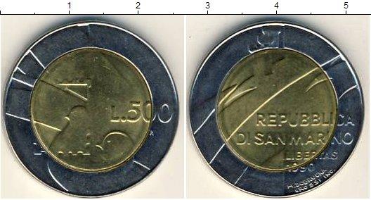 Картинка Мелочь Сан-Марино 500 лир Биметалл 1990