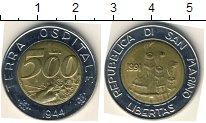 Изображение Мелочь Сан-Марино 500 лир 1991 Биметалл XF