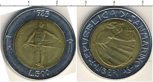 Картинка Мелочь Сан-Марино 500 лир Биметалл 1985