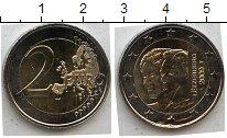 Изображение Мелочь Люксембург 2 евро 2009 Биметалл UNC- 90 лет восшествия на