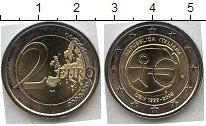 Изображение Мелочь Италия 2 евро 2009 Биметалл UNC- 10 лет единой европе